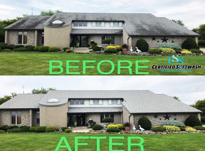 Roof - before and after