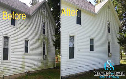 siding - before and after