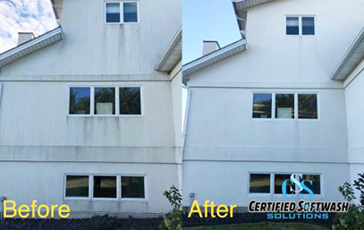 Stucco - before and after